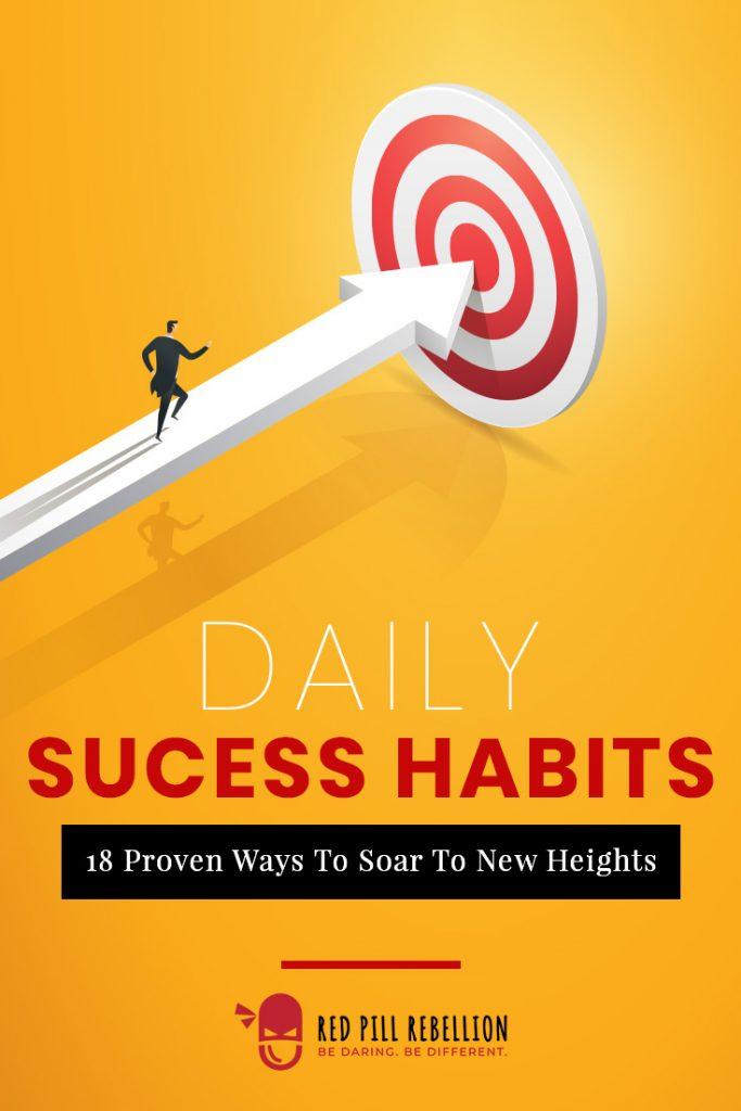 success habits man running toward the bullseye on a target