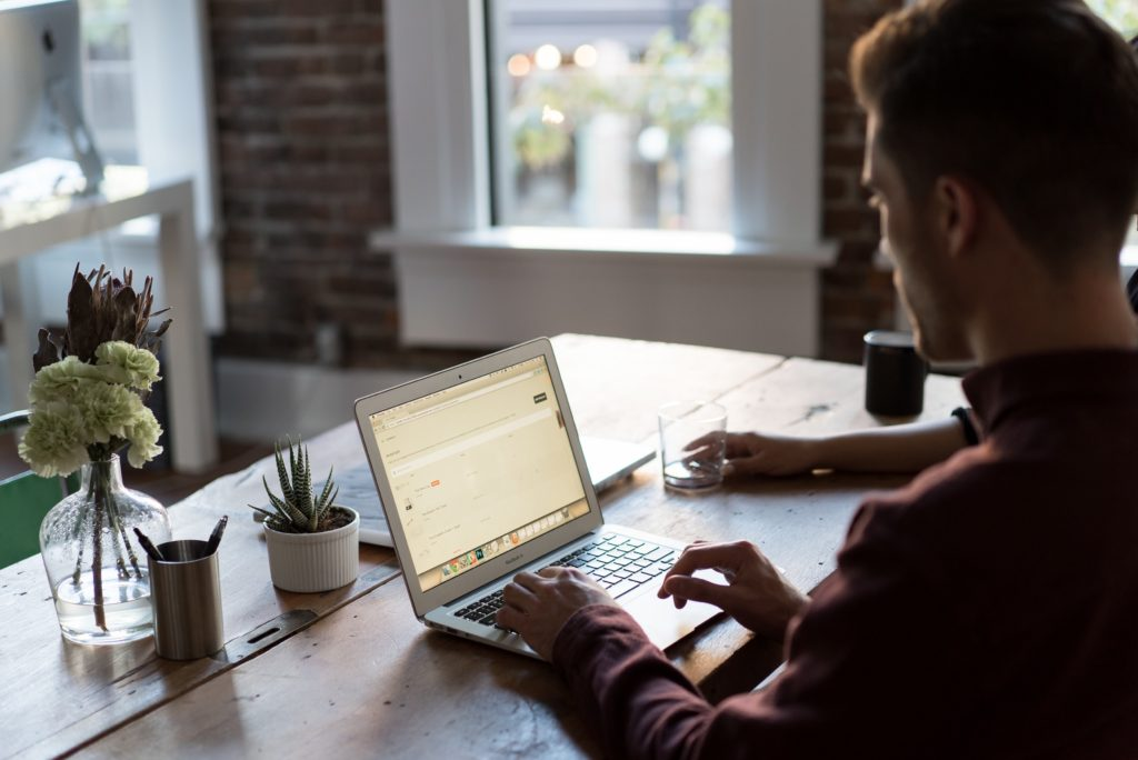 working on your laptop in a distraction-free work from home environment will yield the best results