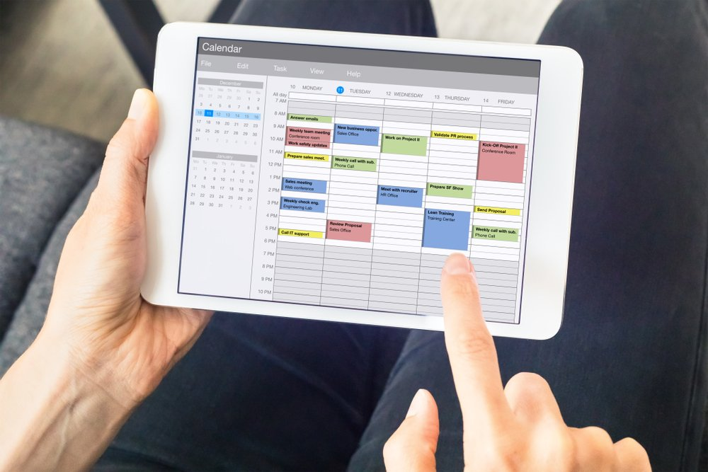 a Key component of Remote Work Best Practices is to set your work hours and stick to them by using a physical or digital planner (or both)