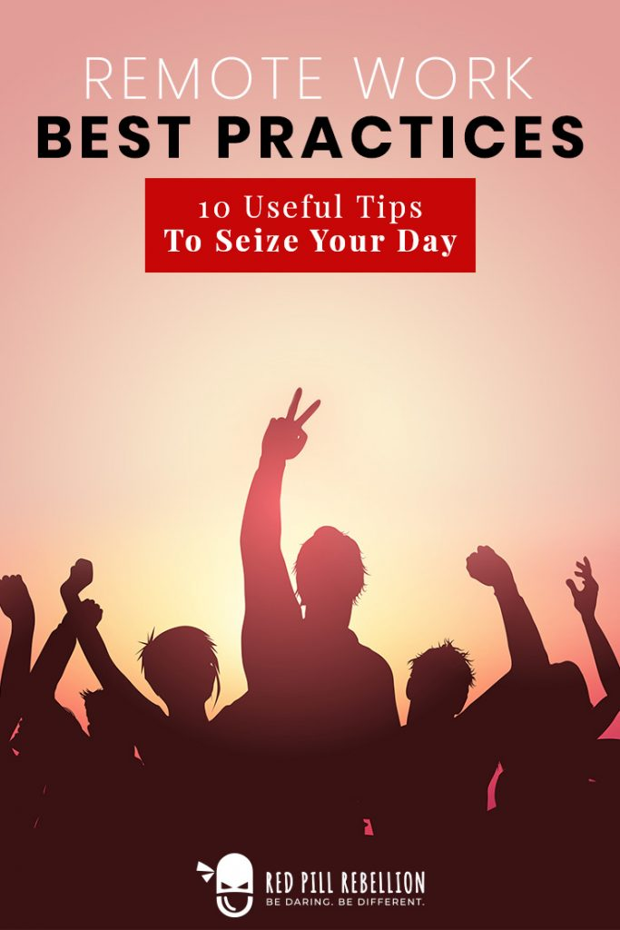 10 Useful Tips to Seieze Your Day Pinterest Pin; Silhouettes against sunset