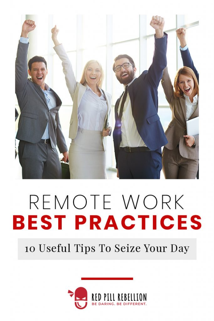 Tips to Seize Your Day for Remote Work: Coworkers celebrating