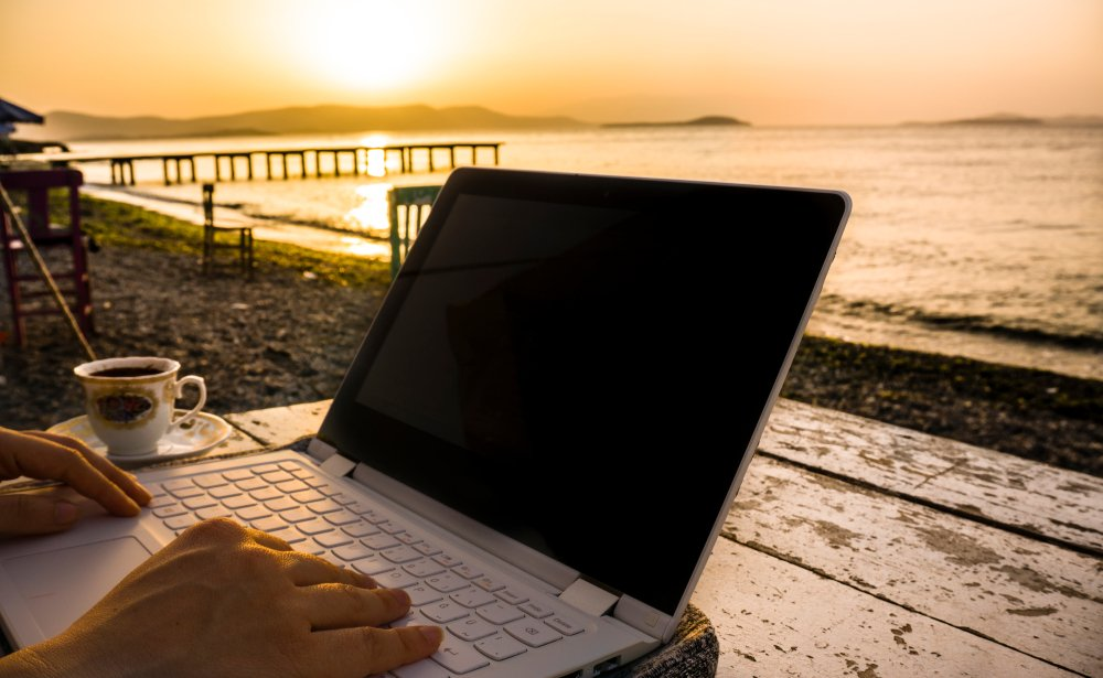 Negotiate a remote work arrangement with your boss and enjoy working from anywhere